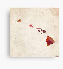 hawaii map warm colors Canvas Print