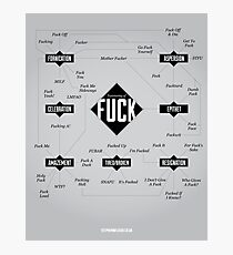 A Taxonomy of Fuck Photographic Print