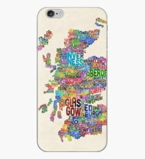 Scotland Typography Text Map iPhone Case
