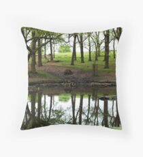 A pond in Richmond Park Throw Pillow