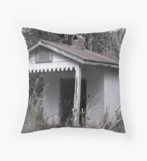 Simple Home Gone Artistic Photograph by Shannon Sears Throw Pillow