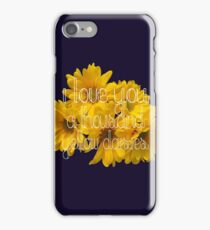 I Love You A Thousand Yellow Daisies iPhone Case/Skin