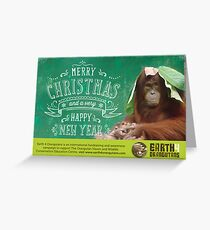 Earth 4 Orangutans Christmas Card Greeting Card