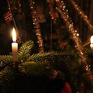 Traditional Christmas candles by Algot Kristoffer Peterson