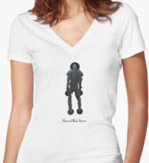 Hearts of Black Science - B-Sides figure Women's Fitted V-Neck T-Shirt