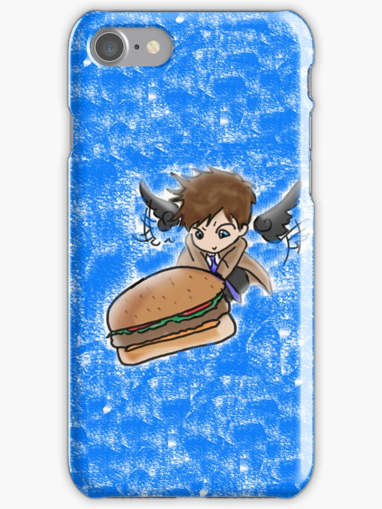 Castiel Burger phonecase by bizzyk