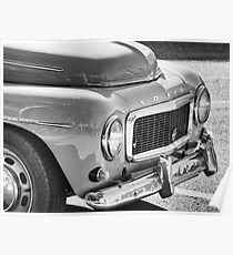 Volvo Black And White Poster