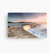 Sunkissed Cobb at Lyme Regis Metal Print