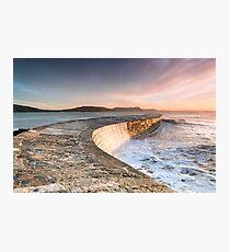 Sunkissed Cobb at Lyme Regis Photographic Print