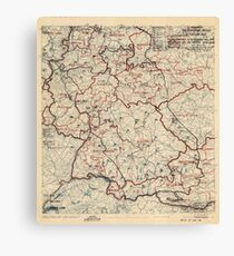 June 3 1945 World War II HQ Twelfth Army Group situation map Canvas Print