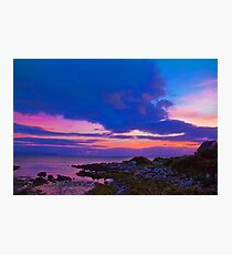 Ireland. Galway. Galway Bay. Sunset. Photographic Print