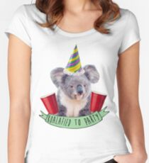 Koala-fied To Party Women's Fitted Scoop T-Shirt