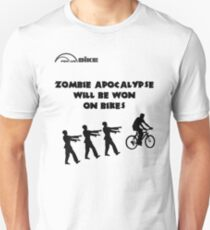 Cycling T Shirt - Zombie Apocalypse Will be Won on Bikes Unisex T-Shirt