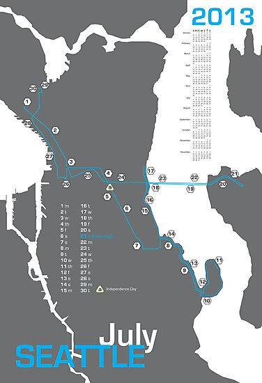 Seattle Marathon Map\