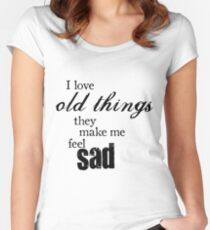 Sally Sparrow Quote Women's Fitted Scoop T-Shirt