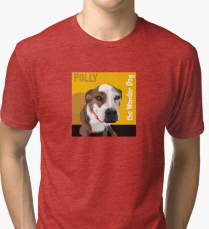 Polly the Wonder Dog Tri-blend T-Shirt