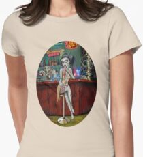 Barfly Zombie Chick Womens Fitted T-Shirt