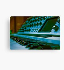 Synthesizer Synth Keys and Knobs Canvas Print
