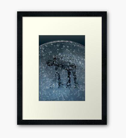 Snow globe walker Framed Print