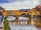Ponte Vecchio, Florence, Italy by David Carton