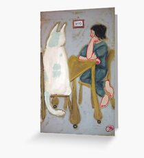 iphone Kitty Case by jacinta stephenson as cint clare Greeting Card
