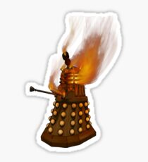Dr Who Classic Dalek in Flames Sticker