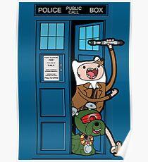 Adventure Time Lord Generation 10 - TARDIS Poster
