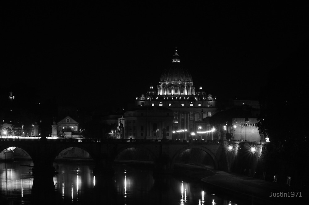 St Peter's Basilica by Night by Justin1971