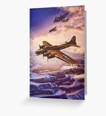 B17 Flying Fortress Over Russia Greeting Card