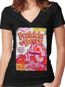 FRAKKIN' BERRY Women's Fitted V-Neck T-Shirt