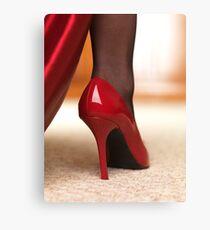 Red High Heels art photo print Canvas Print