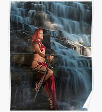 Beautiful Woman Warrior art photo print Poster