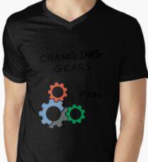 Changing Gears Mens V-Neck T-Shirt