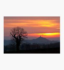 Glastonbury Tor Dawn Photographic Print