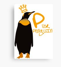 P for Penguin Canvas Print