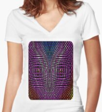 the cage Women's Fitted V-Neck T-Shirt
