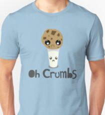 """Oh Crumbs"" - Kawaii Cookie & Milk T-Shirt"