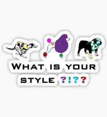 Dog style Sticker