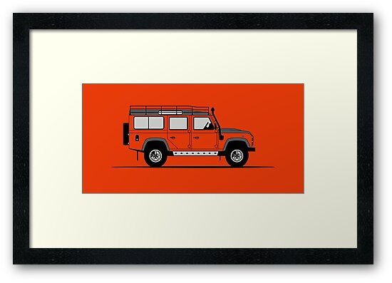 A Graphical Interpretation of the Defender 110 Station Wagon Adventure Edition by 3pedaldriving