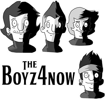 Meet The Boyz4Now! (light color options with black text) by catdinosaur