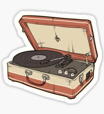 Vintage Record Player Sticker