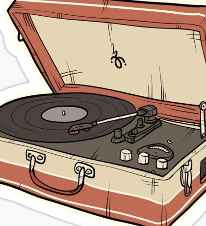 Vintage Record Player Sticker