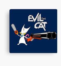 EVIL CAT Canvas Print
