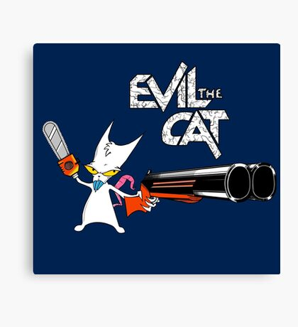EVIL CAT Canvas Print