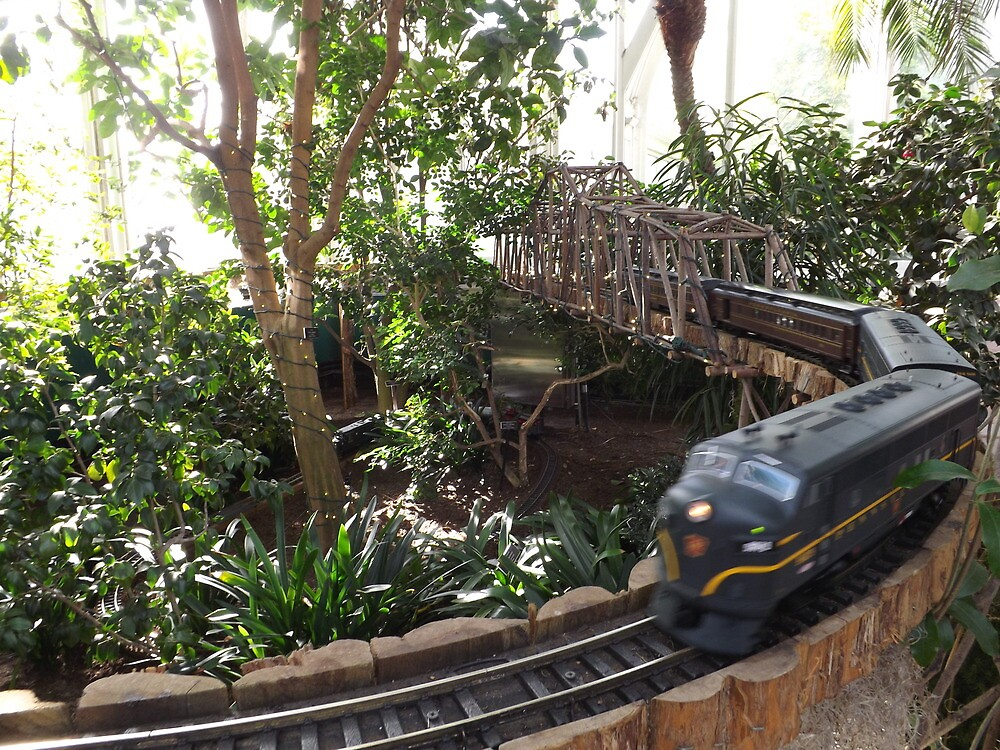 Model pennysylvania railroad trains new york botanical garden holiday train show bronx new for New york botanical gardens train show