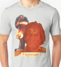 Richard Feynman with name Unisex T-Shirt