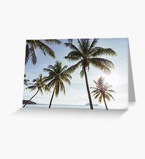 Beachfront Coconut Palms Greeting Card