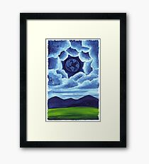 Night Earth in the Sky Framed Print