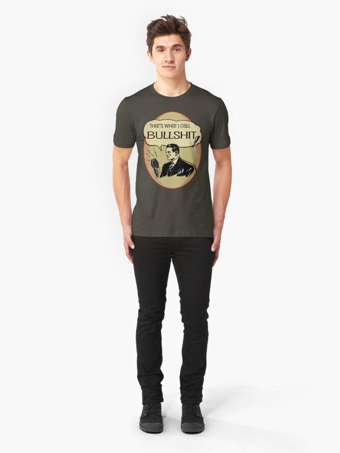 Alternate view of old timey bullshit Slim Fit T-Shirt