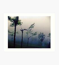 Munar rain n fog Art Print